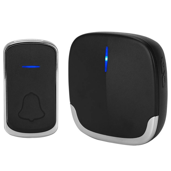 Wireless Doorbell Black for Home Classroom Business, 58 Melodies, 5 Levels Volume, 850 Ft Range 1