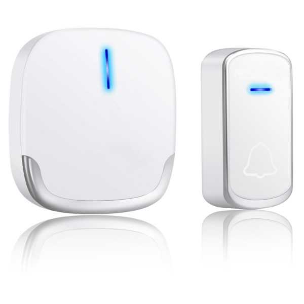 Wireless Doorbell White for Home Classroom Business with 58 Melodies 5 Levels Volume, 850 Ft Range 1