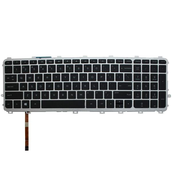 Replacement Keyboard for HP Envy (TouchSmart) 17-j000 17t-j000 CTO 17-j100 17t-j100 CTO Series Laptop Silver Frame 1
