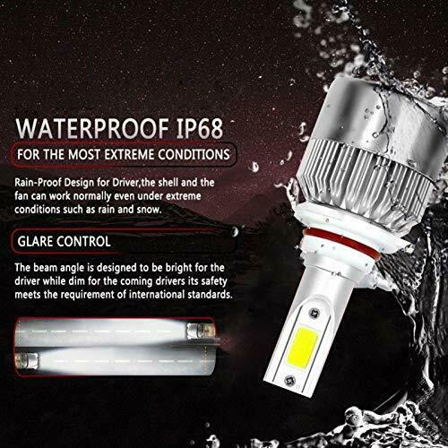 LED Car Headlight Bulbs 9005 HB3 H10 26000LM 110W High Beam/Low Beam/Fog Light 3