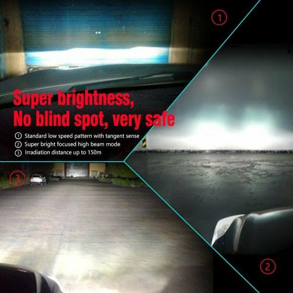 LED Car Headlight Bulbs H4 High Beam/Low Beam/Fog Light All-in-One Plug & Play 7