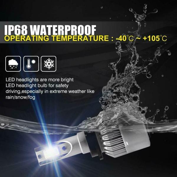 LED Headlight Bulb Conversion Kit D2S D4S 55W Car Lamp Light 6000K Pure White 4
