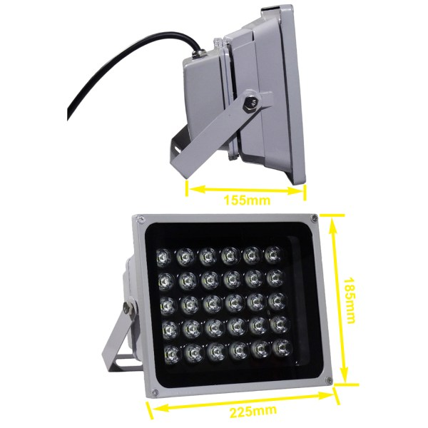 IR Illuminator 850nm 30-LED IR Infrared Light with Power Adapter for CCTV Camera (90 Degree) 7