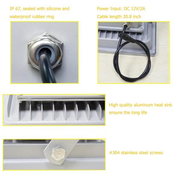 IR Illuminator 850nm 6-LEDs IR Infrared Light with Power Adapter for CCTV Camera (90 Degree) 6