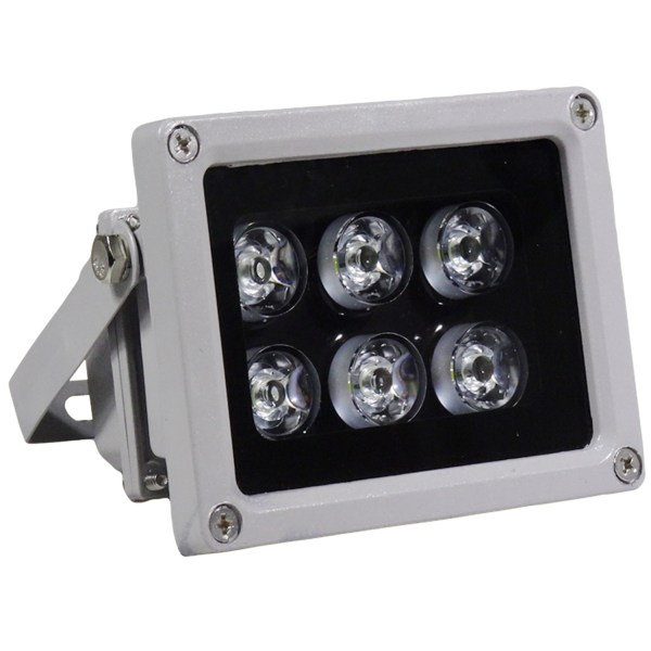 IR Illuminator 850nm 6-LEDs IR Infrared Light with Power Adapter for CCTV Camera (90 Degree) 1