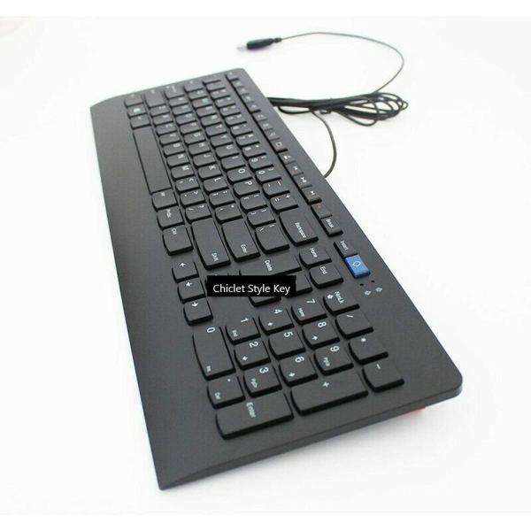 Wired USB Keyboard for Lenovo JME2209U Slim Keyboard Quiet Chiclet Style Key 4