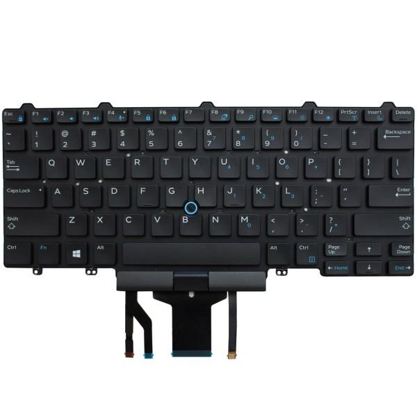 Replacement Keyboard for Dell Latitude E5450 E5470 E7450 E7470 Laptop No Frame, With Pointer 1