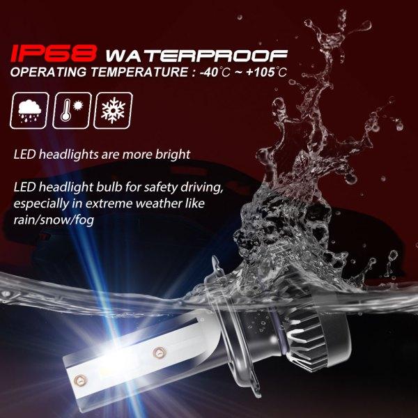 H7 LED Headlight Bulbs Conversion Kit 6000 K Cold White 360°Adjustable Beam 6