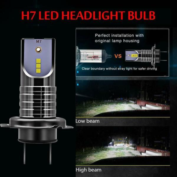 LED Car Headlight Conversion Kit H7 6000K 110W 30000LM Globes Canbus Bulbs Beam 2