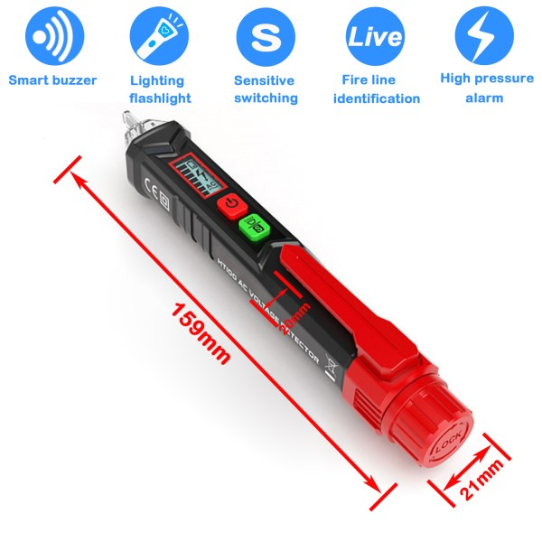 Voltage Tester Non Contact AC Voltage Detector for Range 12V-1000V/48V-1000V With Led Light, Flashlight 7
