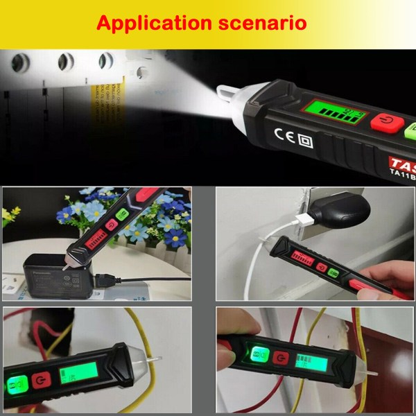 Voltage Tester Non Contact AC Voltage Detector for Range 12V-1000V/48V-1000V With Led Light, Flashlight 6