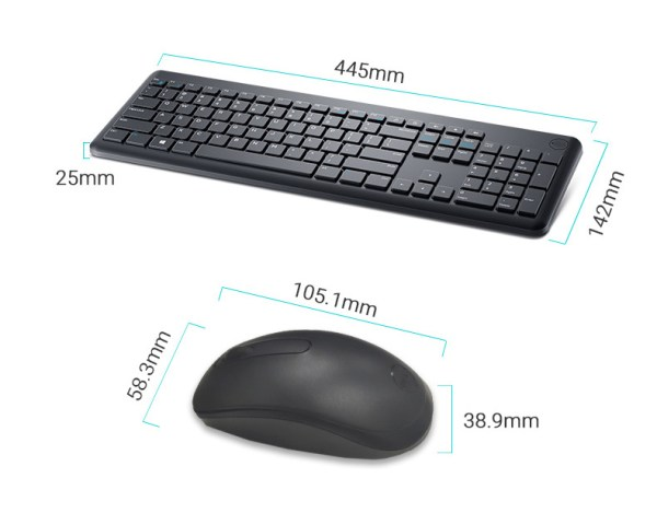 Wireless Keyboard for Dell KM117 Keyboard and Mouse Combo 2.4GHz 5