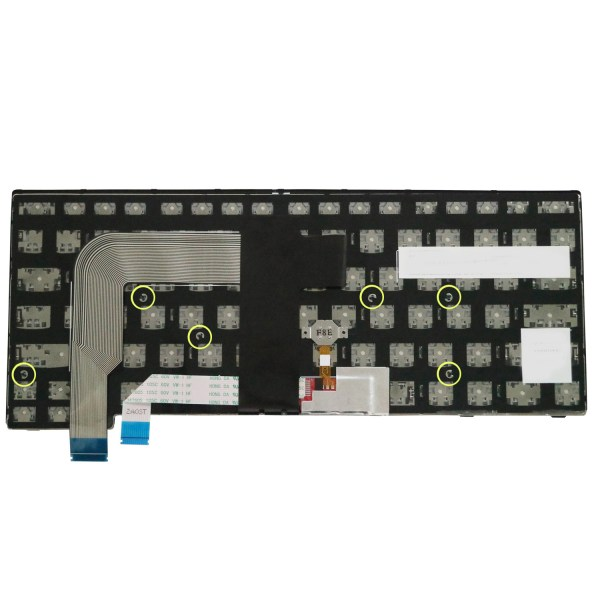Replacement Keyboard for Lenovo ThinkPad T460s T470s (Not Fit T460 T460p T470 T470p) / New S2 Laptop Silver Frame (6 Fixing Screws) 3