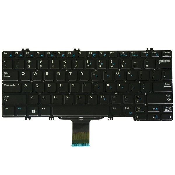 Replacement Keyboard for Dell Latitude 5280 5289 7280 7290 7380 7389 7390 Laptop No Frame 1