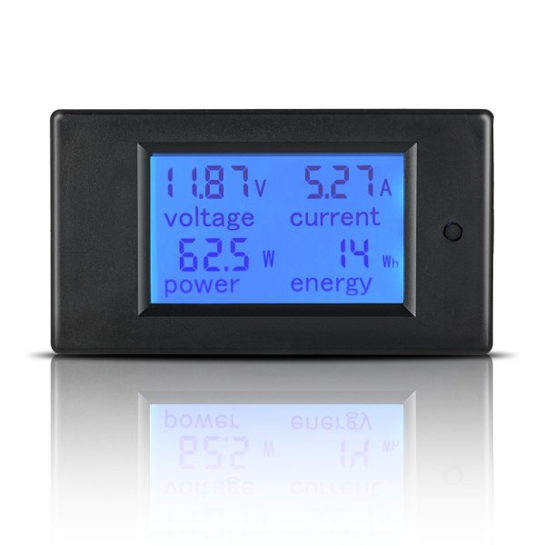 Digital Multimeter DC 6.5-100V 0-100A LCD Display Ammeter Voltmeter Multimeter Volt Watt Power Energy Meter with 100A 75mV Shunt 2