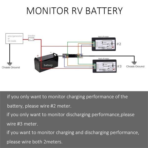 Digital Multimeter DC 6.5-100V 0-100A LCD Display Ammeter Voltmeter Multimeter Volt Watt Power Energy Meter with 100A 75mV Shunt 5