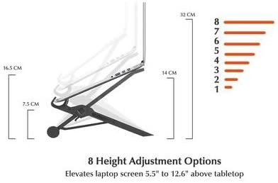 NEXSTAND Travel Laptop Stand Foldable and Adjustable Notebook Holder 8 Height Options 4