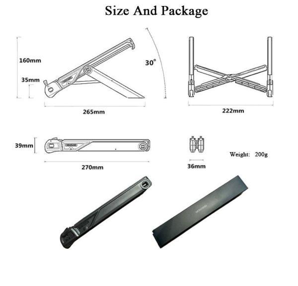 NEXSTAND K7 Laptop Stand Folding Portable Laptop Lapdesks, Office Lapdesks, Ergonomic Notebook Stand 4