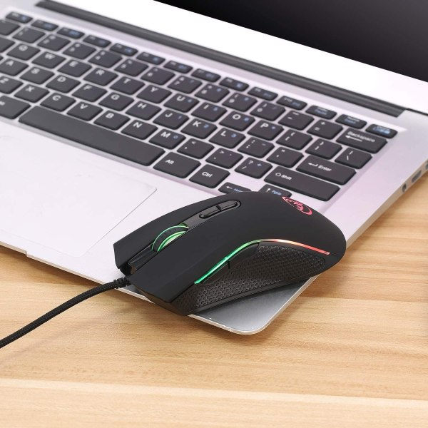 HXSJ A869 Wired Gaming Mouse, 7 Programmable Buttons, 7 Bright Colors LED and Ergonomics Design 7