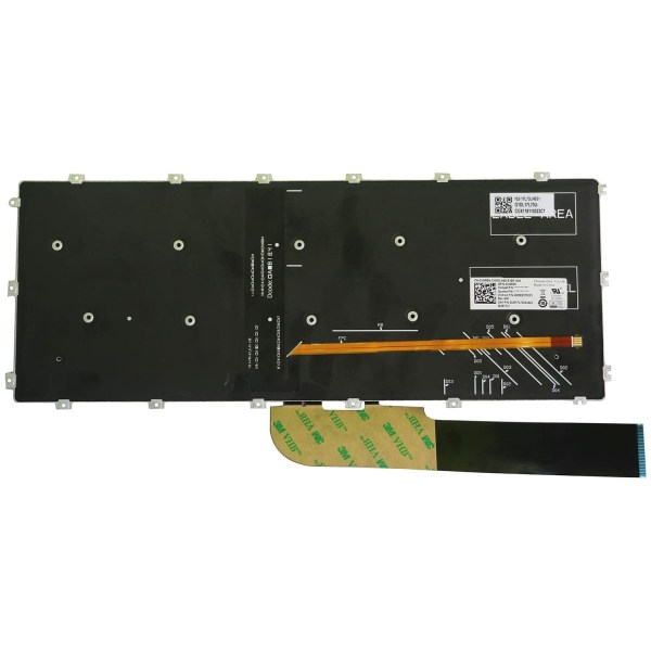 Replacement Keyboard for Dell Inspiron 5480 5481 5482 5485 5488 5491 5580 5582 5585 5591 7386 7580 7586 Laptop No Frame 2