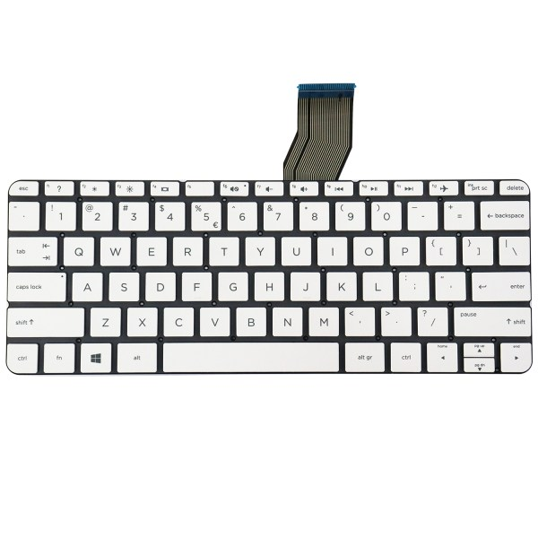 Replacement Keyboard for HP Stream 11-d 11-d000 Series Laptop No Frame White 1
