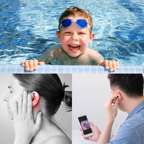 WiFi Otoscope for iPhone Android Ultra-Slim Wireless Ear Scope Camera with Replaceable Otoscope Specula Waterproof Washable 3