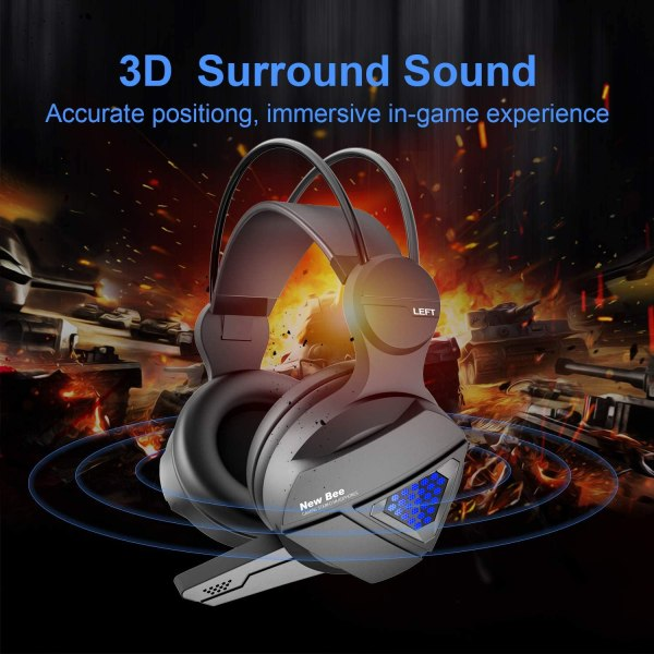 Gaming Headset New bee Stereo Over Ear Headphone Auction 3
