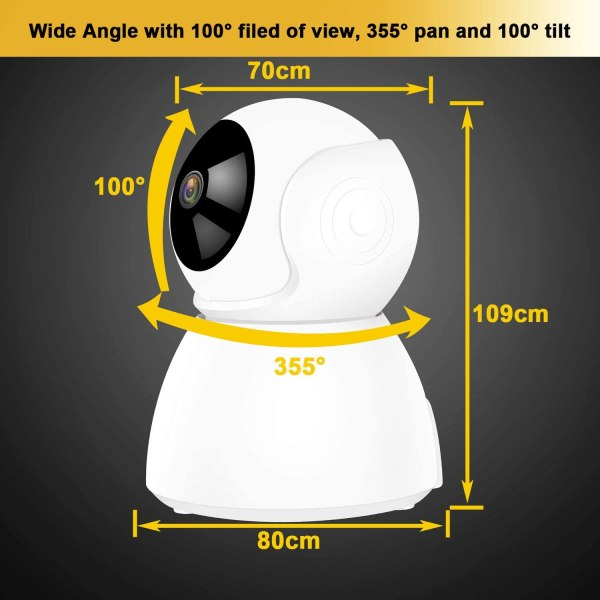 Wireless IP Camera Supports Two Way Audio Motion Detection Pan/Tilt Onvif IR Day Night CCTV Network Surveillance Camera 5