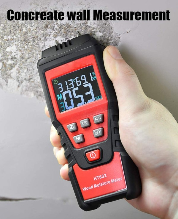 Wood Moisture Meter Digital Wood Humidity Tester Hygrometer Timber Damp Detector with Pin-Type 5