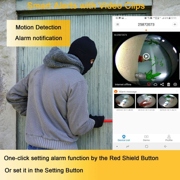 Wireless IP Camera Supports Two Way Audio Motion Detection Pan/Tilt Onvif IR Day Night CCTV Network Surveillance Camera 4