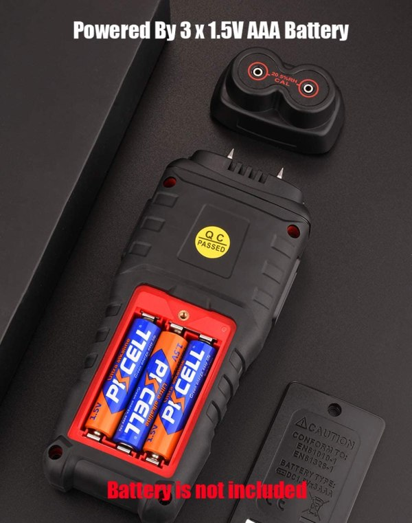Wood Moisture Meter Digital Wood Humidity Tester Hygrometer Timber Damp Detector with Pin-Type 8
