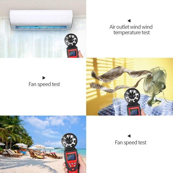 Digital Anemometer Humidity Temperature Testers with USB Data Logging Wind Speed Meter Air Flow Meters (Type B) 5