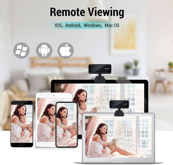 Webcam 1080P HD 5 Million Pixels Auto Focus Streaming Computer Laptop Camera USB PC Web Cam with Microphone Plug and Play 2