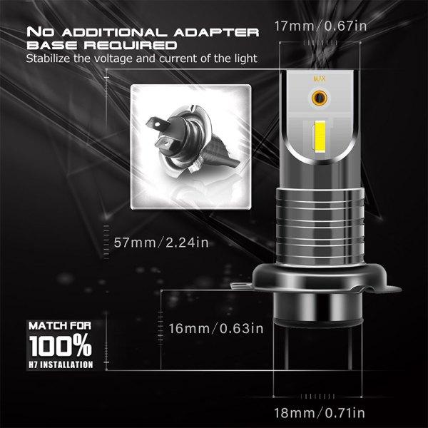 LED Headlight Bulbs H7 6000 K Cold White Headlight Conversion Kit All in One Model 2