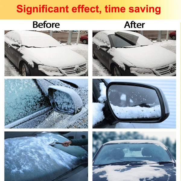 Windshield Cover with Magnet for Snow, Leaves, Rain, Frost, Larger Size (85''x61'') Suit for Most Car 5