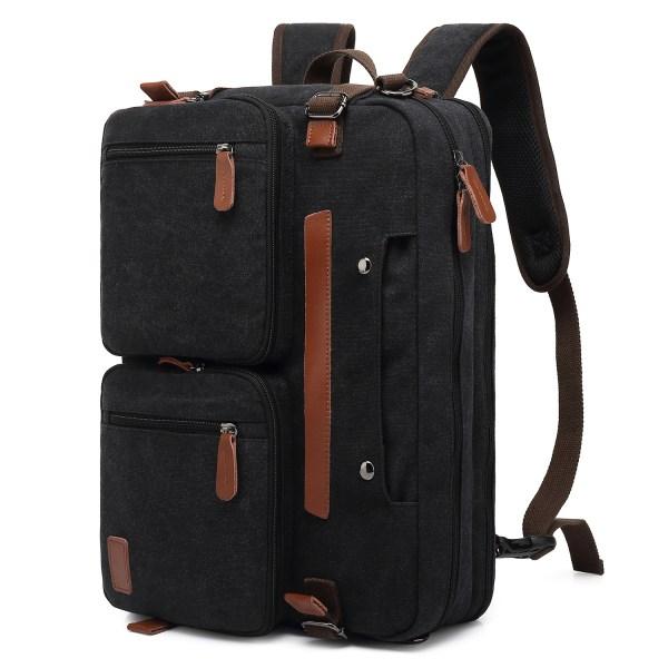 Convertible Backpack Briefcase Messenger Bag 15.6 Inch Laptop Tablet Carrying Case Shoulder Bag Waterproof 1