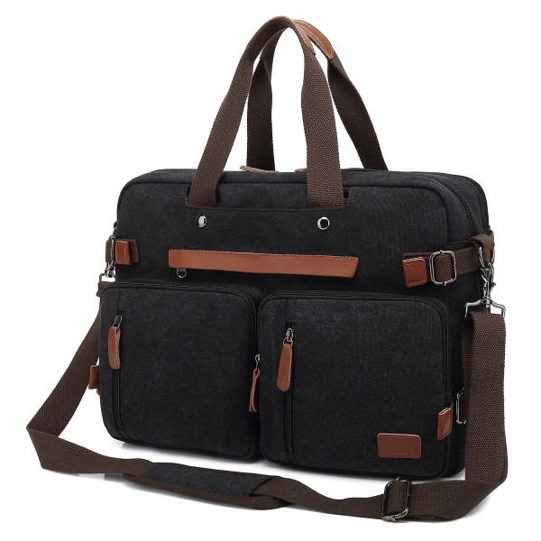 Convertible Backpack Briefcase Messenger Bag 17.3 Inch Laptop Tablet Carrying Case Shoulder Bag Waterproof 3