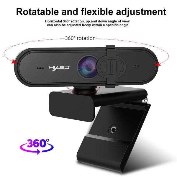 HD 1080P Webcam Autofocus Computer PC WebCam With Microphone Rotatable Cameras 3