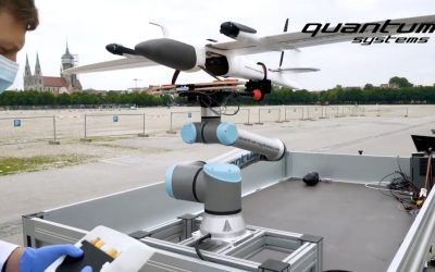 Downtown VTOL flight delivering COVID-19 samples to a laboratory
