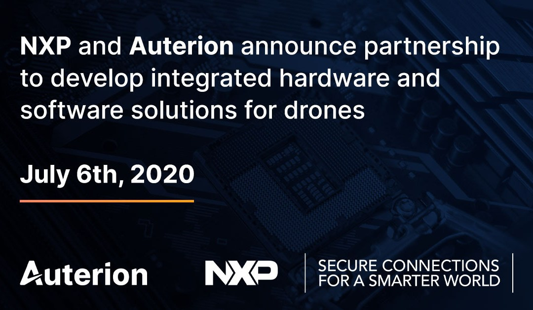 NXP and Auterion collaborate to develop integrated hardware and software solutions for drones and drive standards in open collaboration