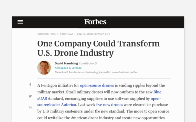 """One Company Could Transform U.S. Drone Industry"" – Forbes"