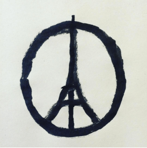 Logo peace for Paris Jean Julien
