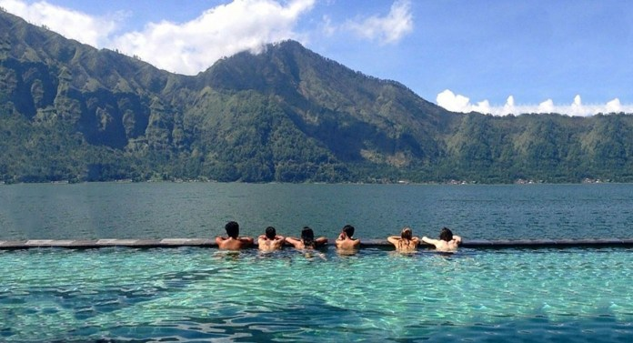 Bali Mount Batur Volcano Its Lake Authentic Indonesia