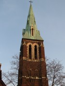 green church steeple