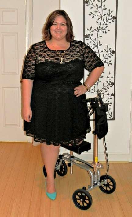 ASOS Curve Plus Size Lace Skater Dress