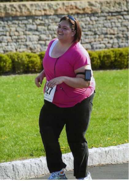 Emmie during half marathon