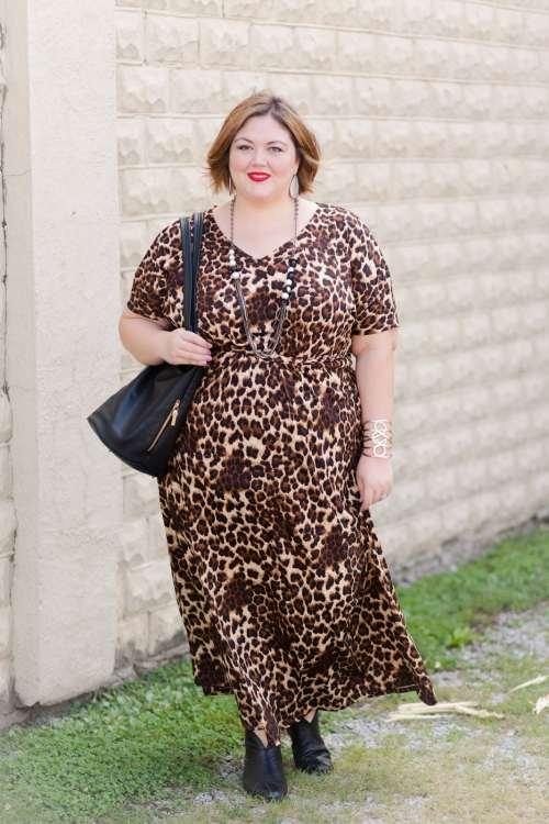 IGIGI Elissa Plus Size Maxi Dress in Mocha Leopard on Authentically Emmie