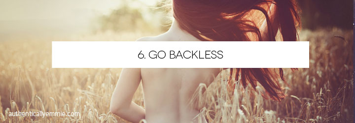 Go Backless (with fashion)