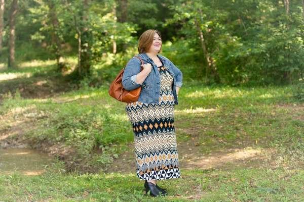Karen Kane maxi dress on Authentically Emmie