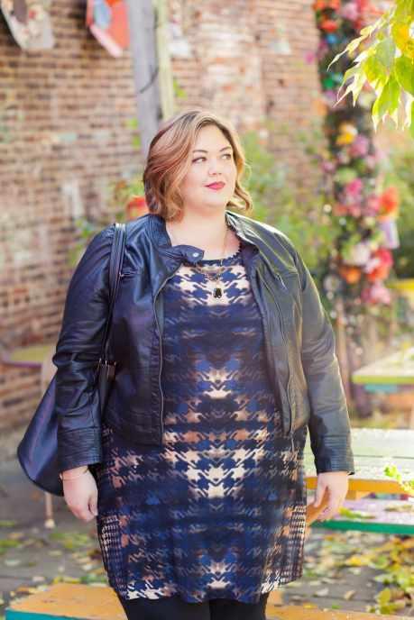 Karen Kane Printed Houdstooth Dress